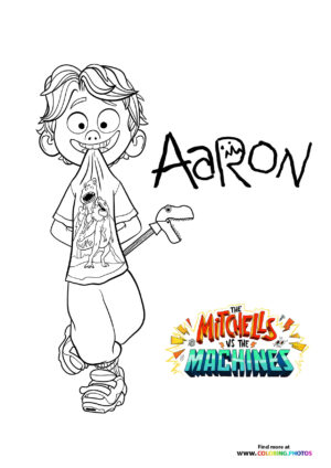 Aaron - The Mitchells coloring page
