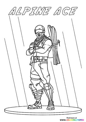 Alpine Ace - Fortnite coloring page
