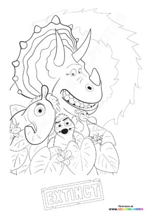 Animals from Extinct coloring page