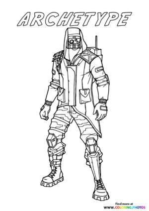 Archetype - Fortnite coloring page
