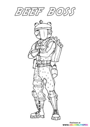 Beef Boss - Fortnite coloring page