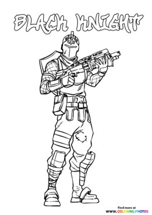 Black Knight - Fortnite coloring page