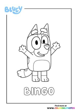 Bluey Bingo coloring page