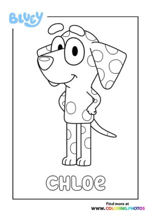 Bluey Chloe coloring page