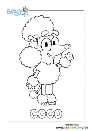 Bluey Coco coloring page