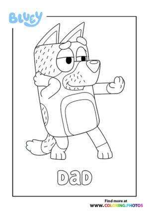 Bluey Dad coloring page