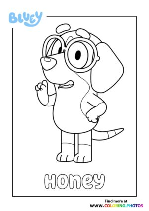 Bluey Honey coloring page