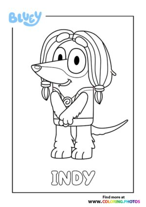 Bluey Indy coloring page