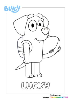 Bluey Lucky coloring page