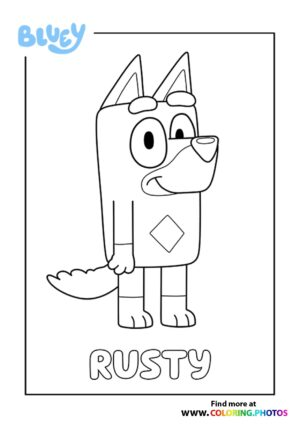 Bluey Rusty coloring page