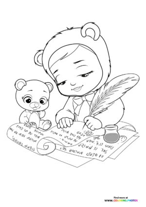 Bonnie writing - Cry Babies coloring page