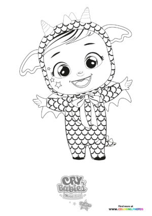 Bruny - Cry Babies - Gold Edition coloring page
