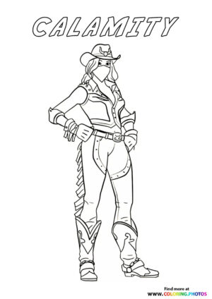 Calamity - Fortnite coloring page