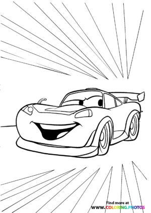 Lightning McQueen's going fast