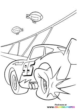 Lightning McQueen's tire has blown