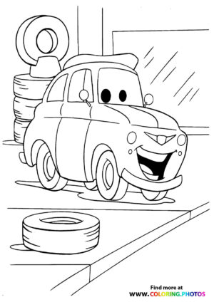 Luigi changing his tires