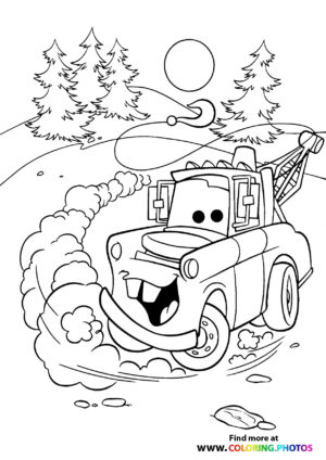 Mater riding in the woods