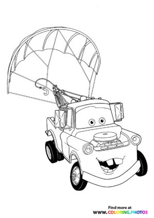 Mater droping by a parachute