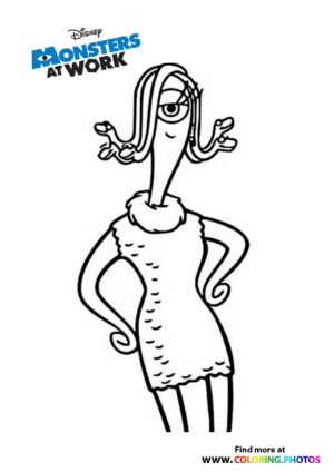 Celia Mae - Monsters at work coloring page