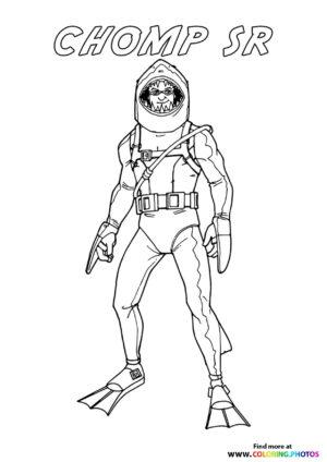 Chomp Sr - Fortnite coloring page