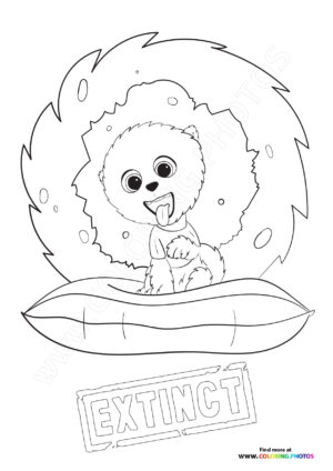 Clarance from Extinct coloring page
