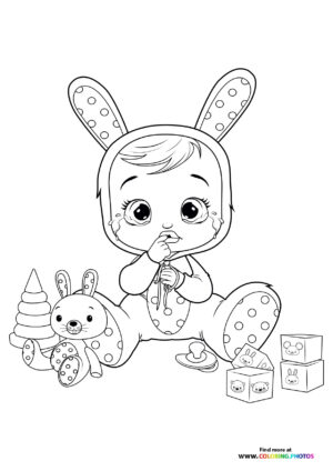 Coney - Cry Babies coloring page