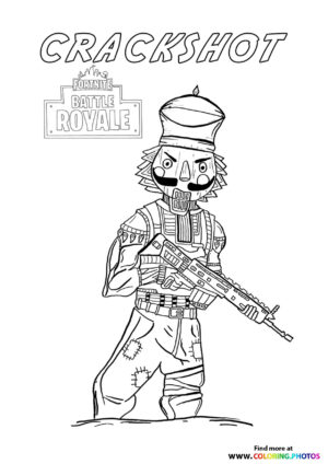 Crackshot - Fortnite coloring page