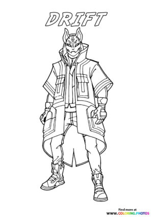 Drift - Fortnite coloring page