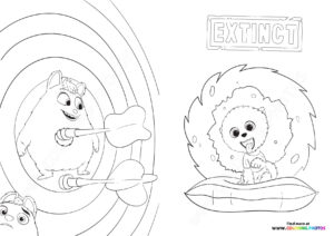Clarance, Ed and Op coloring page