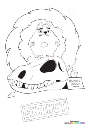 Ed from Extinct coloring page