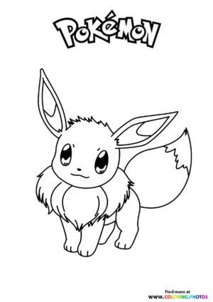 Cute Eevee - Pokemon coloring page
