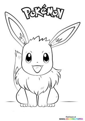 Eevee - Pokemon coloring page