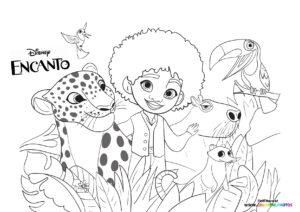 Encanto animals coloring page