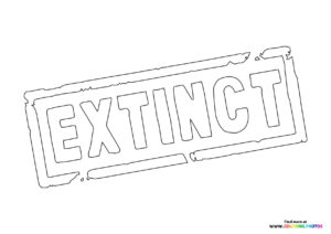 Logo from Extinct movie coloring page