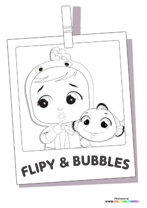 Flipy and Bubbles - Cry Babies coloring page