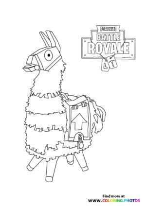 Fortnite Llama coloring page