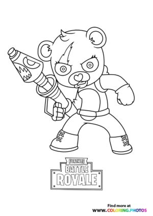 Fortnite Bear coloring page