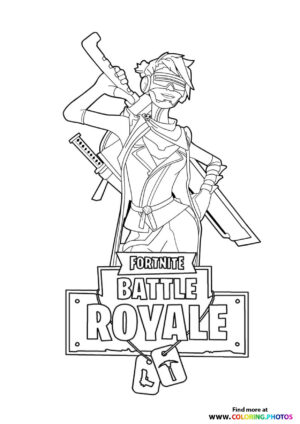 Logo - Fortnite coloring page