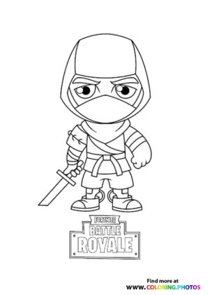 Fortnite Ninja coloring page