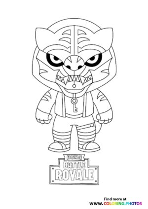 Fortnite Tiger coloring page