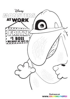 Fritz - Monsters at work coloring page