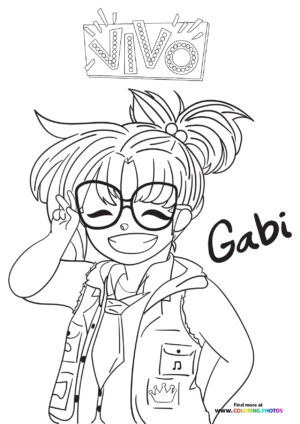 Gaby looking cute coloring page