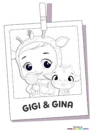 Gigi and Gina - Cry Babies coloring page