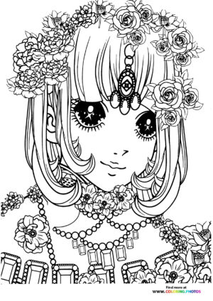 Girl-9 coloring page for Adults