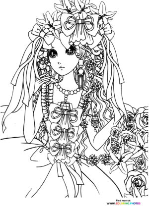 Girl-10 coloring page for Adults