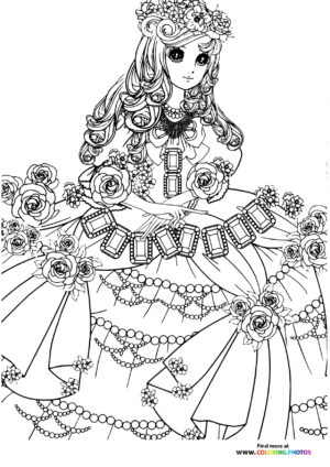 Girl-11 coloring page for Adults