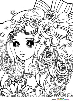 Girl-12 coloring page for Adults