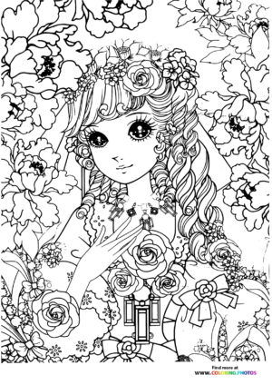 Girl-13 coloring page for Adults