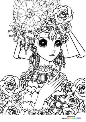 Girl-1 coloring page for Adults