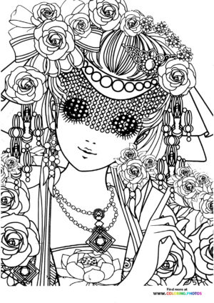 Girl-2 coloring page for Adults